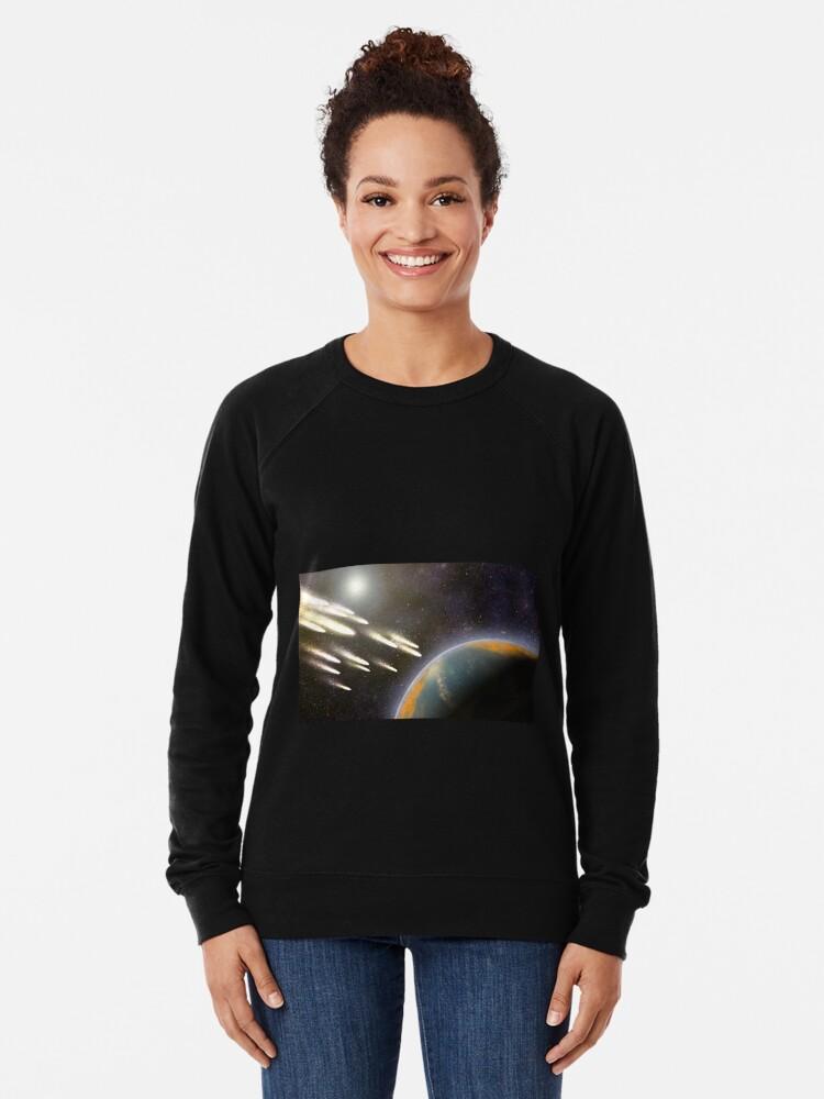Alternative Ansicht von Kometenbeschuss der Erde Leichter Pullover