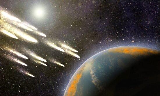 Kometenbeschuss der Erde von Equinox Graphics