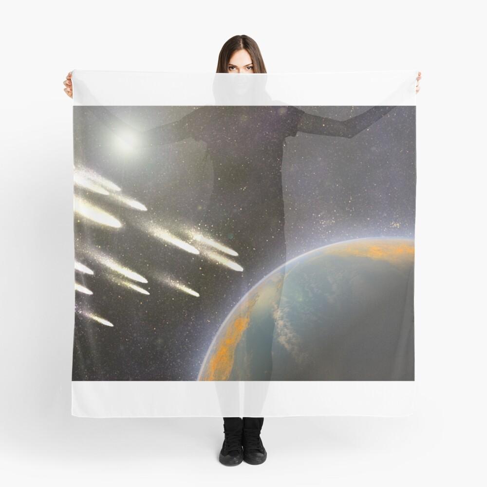 Kometenbeschuss der Erde Tuch