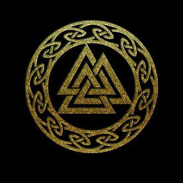 Valknut Odin Symbol Celtic Norse Viking Rune Nordic by nitty-gritty