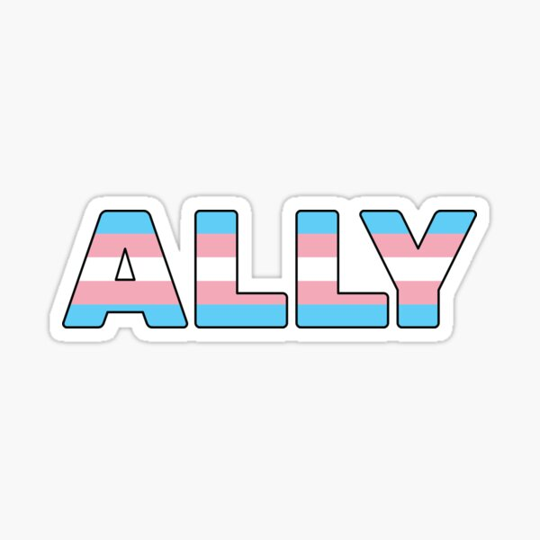 Transgender Ally Trans Rights Sticker