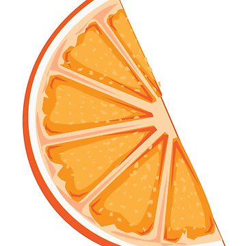 Single orange slice by Arollo