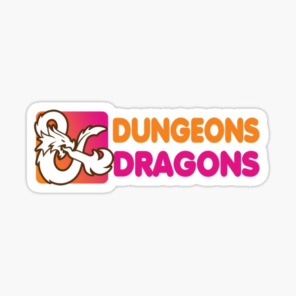 Dunkin' Dragons Sticker