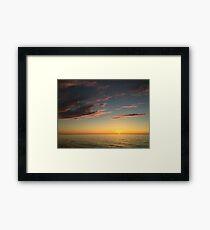 Michigan Sunset Framed Print