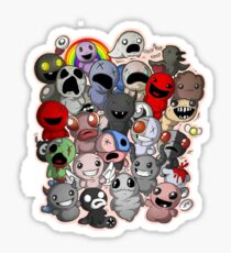 Binding of isaac fan art - familiars Sticker