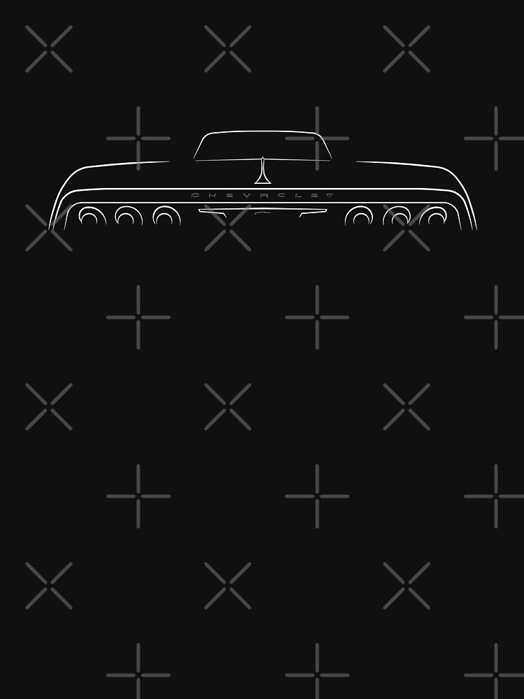 1964 Impala - Stencil trasero, blanco de mal-photography