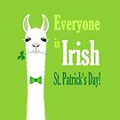 LLAMA: EVERYONE IS IRISH ON ST PATRICK'S DAY by Jean Gregory  Evans