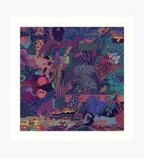 GLASS ANIMALS // ZABA Art Print