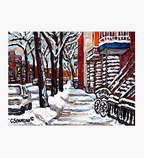 WINTER SNOWSTORM VERDUN MONTREAL STREET SCENES CANADIAN ART Photographic Print