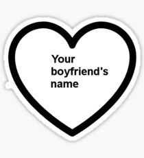 Your boyfriends Shirt Sticker