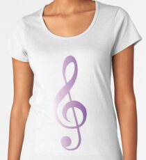 Treble Clef Purple gradient Women's Premium T-Shirt