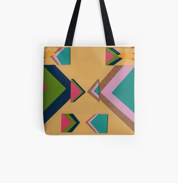Rapped in Ribbons (Facemadics) All Over Print Tote Bag