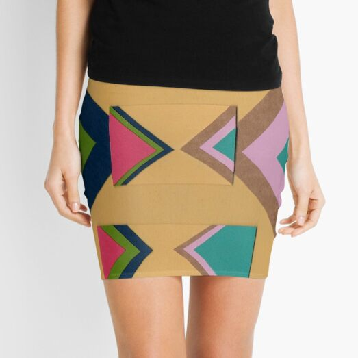 Rapped in Ribbons (Facemadics) Mini Skirt