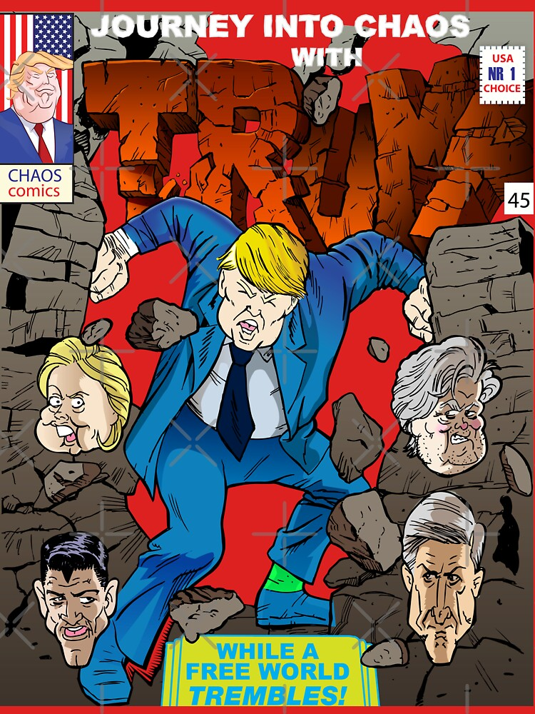 Trump God of Blunder Journey into chaos by dave-ulmrolls