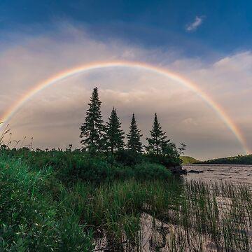 Algonquin Park Double Rainbow by justinrusso