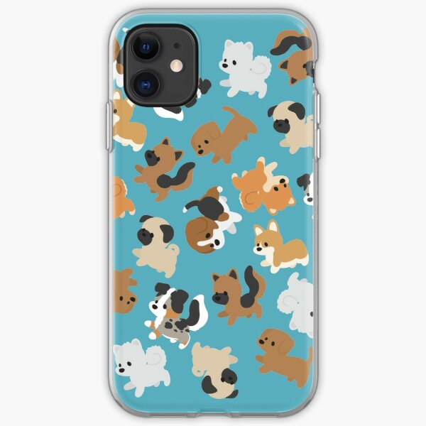 Chibi Puppers Funda blanda para iPhone