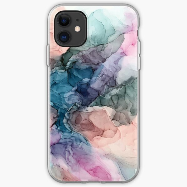 Heavenly Pastels 2: Original Abstract Ink Painting iPhone Soft Case