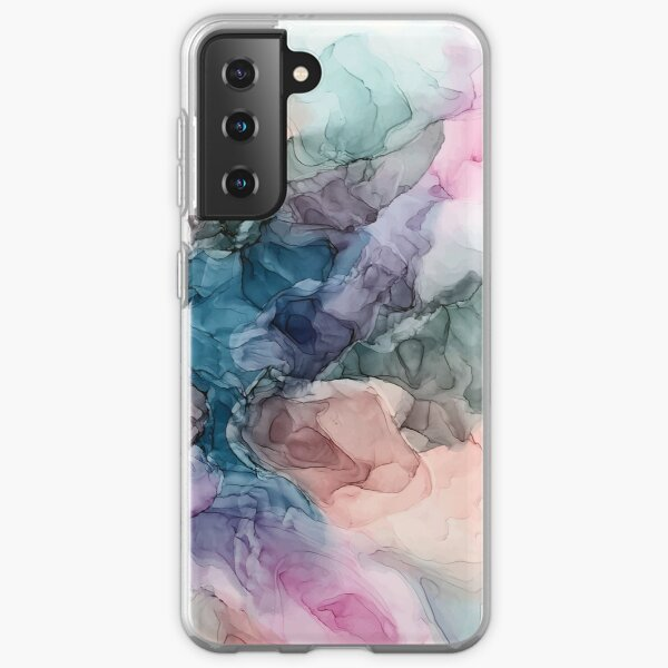 Heavenly Pastels 2: Original Abstract Ink Painting Samsung Galaxy Soft Case