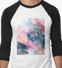 Heavenly Pastels 1: Original Abstract Ink Painting Baseball ¾ Sleeve T-Shirt