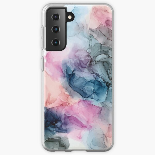 Heavenly Pastels 1: Original Abstract Ink Painting Samsung Galaxy Soft Case