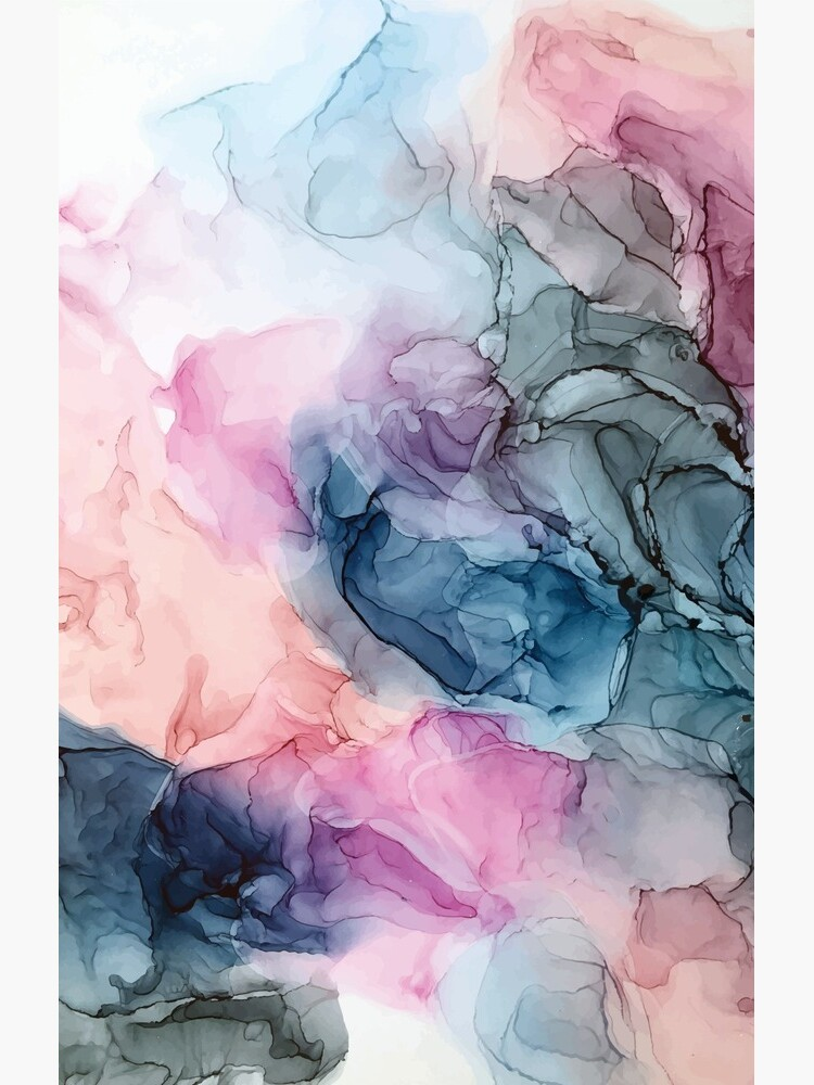 Heavenly Pastels 1: Original Abstract Ink Painting by LSchulz19