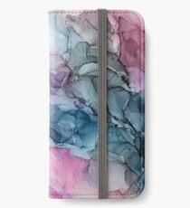 Himmlische Pastelle 1: Original abstrakte Tuschmalerei iPhone Flip-Case/Hülle/Klebefolie