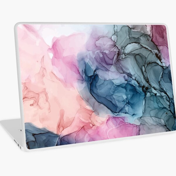Heavenly Pastels 1: Original Abstract Ink Painting Laptop Skin