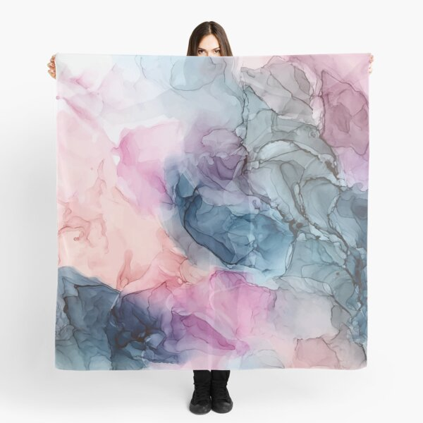 Heavenly Pastels 1: Original Abstract Ink Painting Scarf