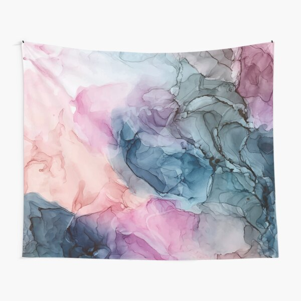 Heavenly Pastels 1: Original Abstract Ink Painting Tapestry