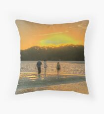 Sunset at Coff's Harbour Throw Pillow