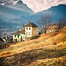 Old house in the Italian countryside by the Alps by Silvia Ganora