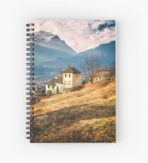 Old house in the Italian countryside by the Alps Spiral Notebook