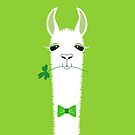 ST PATRICK'S DAY LLAMA by Jean Gregory  Evans