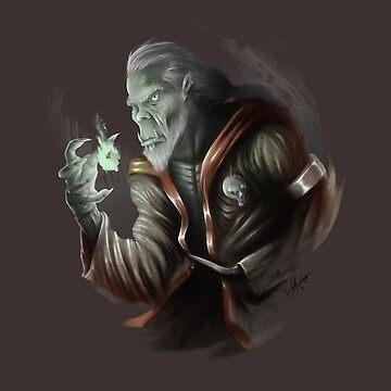 Orc Warlock by bmccamey