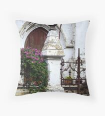 Flakes and Flowers Throw Pillow