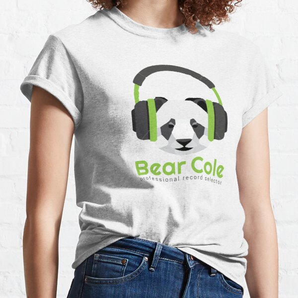 Panda DJ - DJ Bear Cole Logo Classic T-Shirt