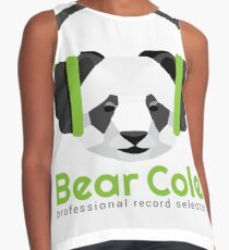 Panda DJ - DJ Bear Cole Logo Contrast Tank