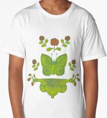 Schmetterling mit Blumen, butterlfy Longshirt