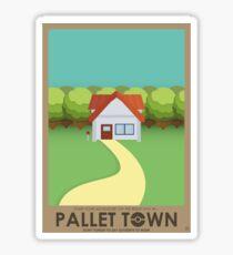 Pallet Town Poster Sticker