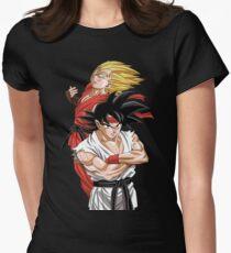 Goku Vegeta - Street Fighter Women's Fitted T-Shirt