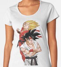 Goku Vegeta - Street Fighter Women's Premium T-Shirt