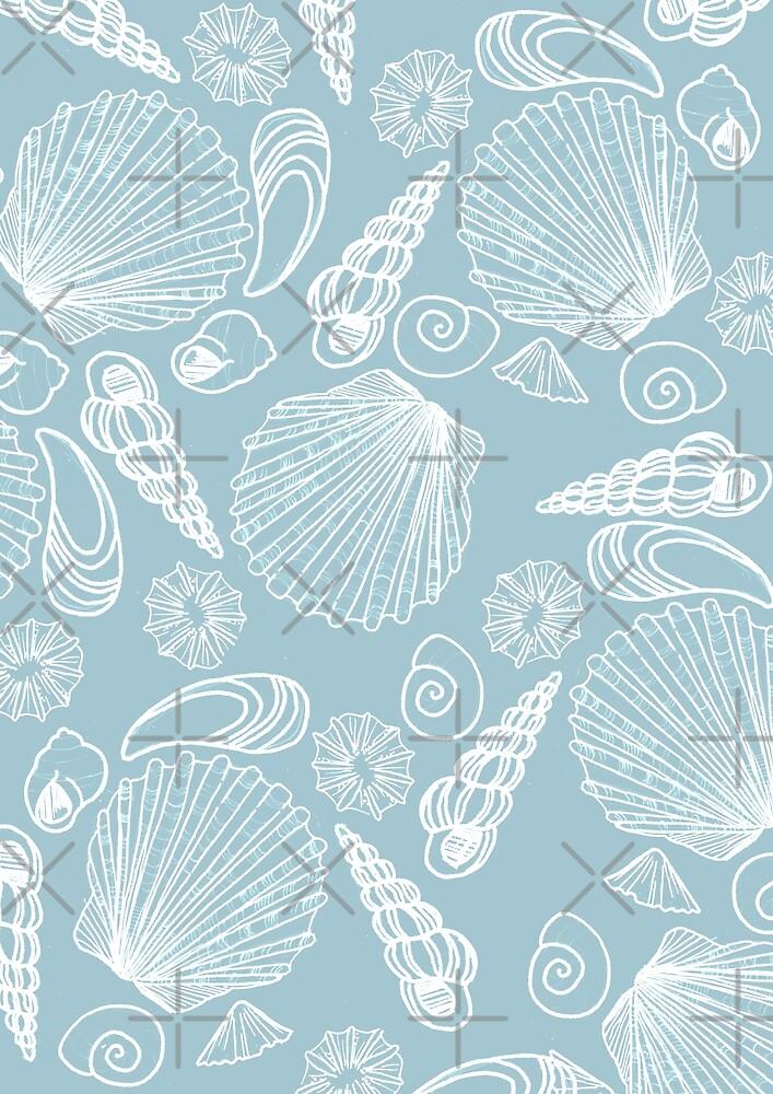 Blue Shell Pattern by katherineblower