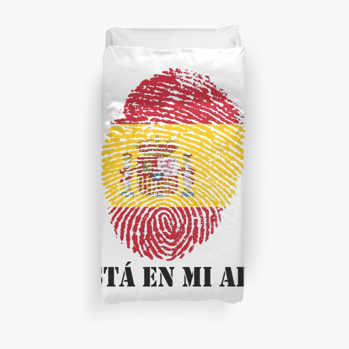 está en mi ADN It\'s In My DNA Spain FingerPrint Of Spain Flag Reino ...