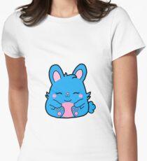 Cute Bunny Rabbit -  Blue Women's Fitted T-Shirt
