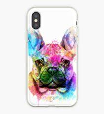 French Bulldog Watercolor, French Bulldog Painting, French Bulldog Portrait, French Bulldog art, French Bulldog illustration iPhone Case