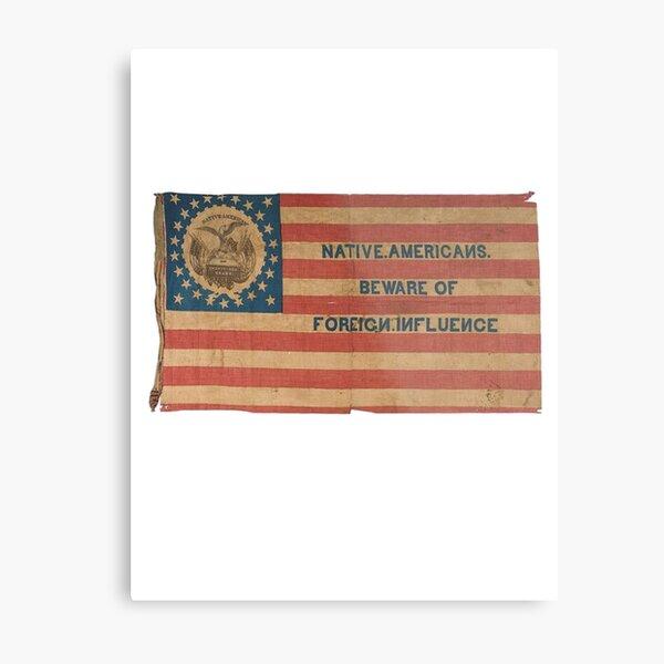 Ironic Vintage American Flag Metal Print