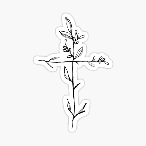 Twig Cross Sticker