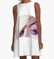Close up eye with beautiful colors A-Line Dress