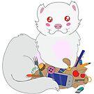 Shy ferret by Maria Nazarian
