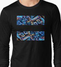 metalic bismut blue and golden Long Sleeve T-Shirt